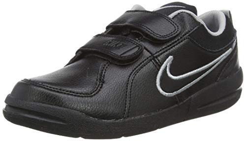 Nike Unisex-Kinder PICO 4 (PSV) Low-Top, Schwarz (Black/Black-Metallic Silver), 29.5 EU