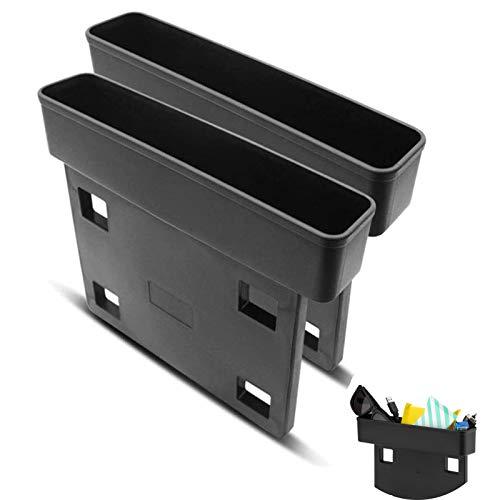 NININI 2 Stück Autositz Aufbewahrungsbox,Aufbewahrungs Schlitz Box Für Auto Sitze,Universal Seitentaschen Organizer,Aufbewahrungs Box Für Multifunktionale Schlitze,Für Zusätzliche Lagerung(Schwarz)