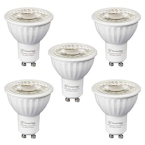 LED-Leuchtmittel, GU10, 9 W, 700 Lumen, 6400 K, Kaltweiß, 5 Stück