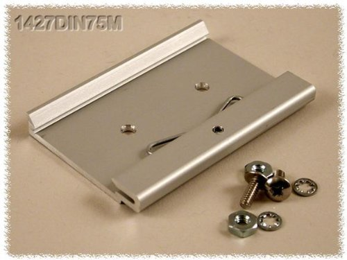 Mounting Hardware ALUM DIN CLIP 75MM FOR 35MM DIN RAILS (1 piece) by Hammond Manufacturing