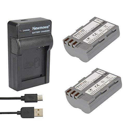 Newmowa 2X Batería EN-EL3 + Micro USB Cargador para Nikon EN-EL3,EN-EL3e y Nikon D50, D70, D70s, D80, D90, D100, D200, D300, D300S, D700
