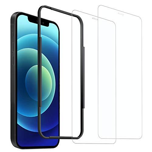 Amouhom 2枚入りiPhone 12用/iPhone12 pro用 ガラスフィルム 6.1inch 強化ガラス液晶保護フィルム