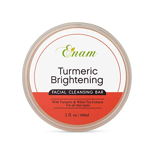 Enam Turmeric Brightening Facial Cleansing Bar - Natural Glow, Gentle Cleansing & Moisturizing Face Cleanser