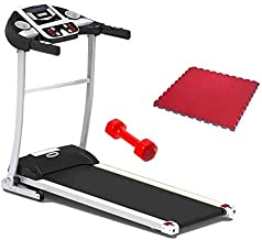 The WorldWide Treadmill With Fitness World Weights - 6 KG, Red With Yoga World Yoga Mat