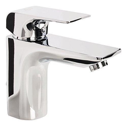 Ideal Waschtischarmatur Standard Strada, A6449AA, Einhandmischer für Waschtisch mit Keramikkartusche, Heißwassertemperaturkontrolle, Chrom, 09720 8