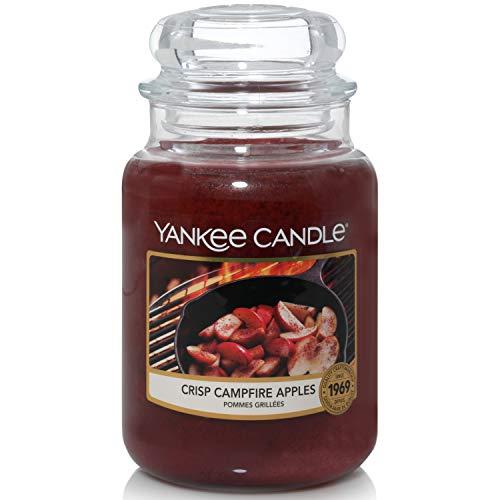 Yankee Candle Duftkerze im Glas (groß) | Crisp Campfire Apples | Brenndauer bis zu 150 Stunden