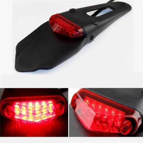 Rear Fender LED Brake Red Tail Light Dirt Bike Motocross XR CRF KLX Enduro EXC