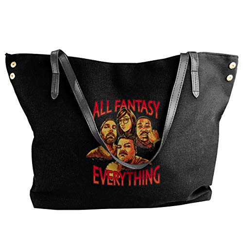 XY Shop The Good Vibes Gang In It's Entirety Women's Tote Bags Canvas Shoulder Bag Hanbag