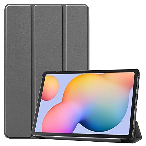 RZL PAD & TAB cases For Samsung Galaxy Tab S6 Lite 10.4 2020, PU Leather Shock-Resistant Flip Stand Case Magnetic Cover For Samsung Galaxy Tab S6 Lite SM-P610 SM-P615 (Color : Gray)