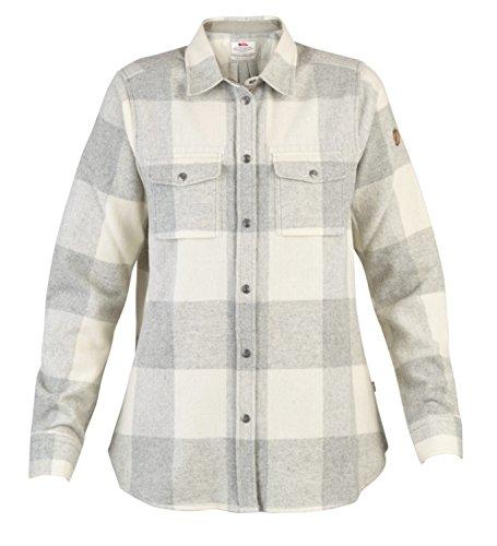 FJÄLLRÄVEN Canada W T-Shirt à Manches Longues Femme, Fog-Chalk White, FR : M (Taille Fabricant : M)
