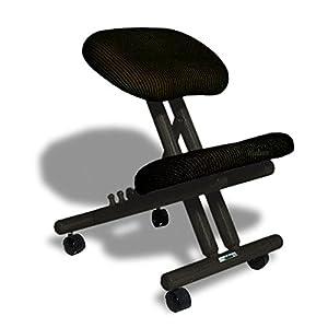 cinius Silla ergonómica Profesional Color Negro sin Respaldo