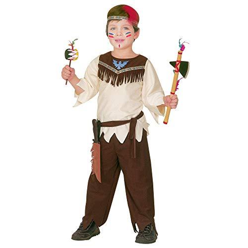 Widmannmannmannmannmann's Indiaans kostuum voor kinderen, meerkleurig, 116 cm / 4-5 Years, 43795