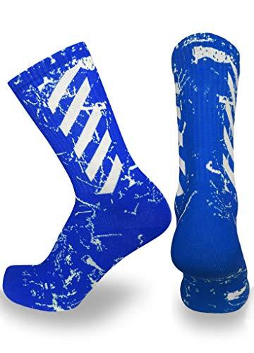 Elite Athletic Crew Socks (Small, Blue)