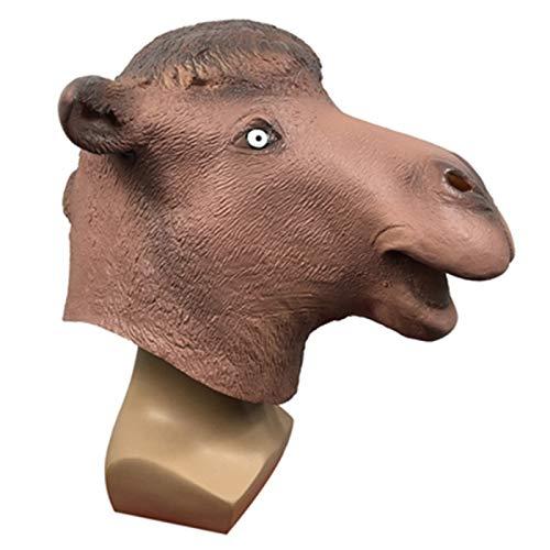 POOO Mscara de Tocado de Camello, Tocado de Animal de Mascarada, Accesorios de Rendimiento para Fiestas navideas