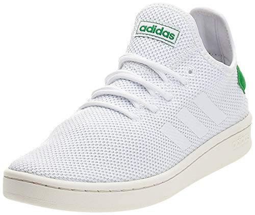 adidas Court Adapt, Scarpe da Tennis Uomo, Bianco (Cloud White/Cloud White/Green), 44 EU