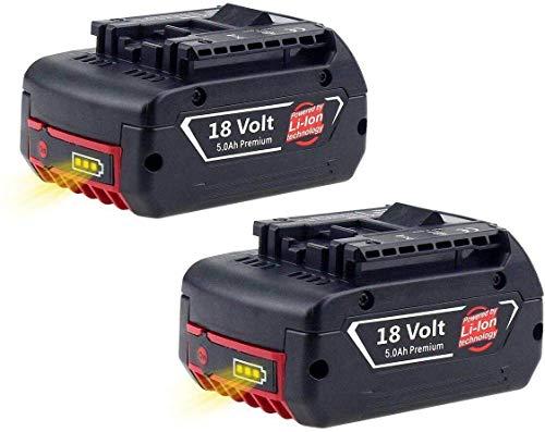 18/V Bater/ía ion de litio BAT609G BAT618/BAT618G BAT021/2607336236 Cargador de repuesto 1018/K para taladro el/éctrico Bosch 14.4/V