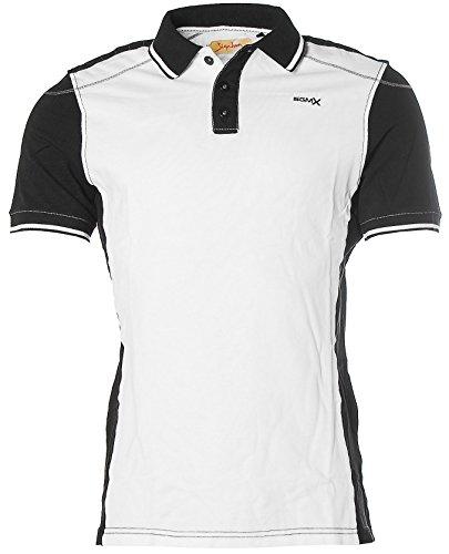Signum Herren Kurzarm Shirt T-Shirt Poloshirt Polokragen Pikee Optical White Black M