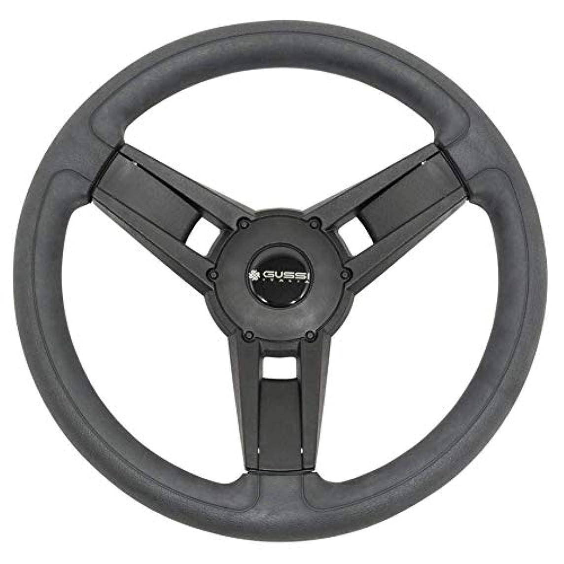 Gussi Italia Giazza Black Premium Italian-Made Steering Wheel for Golf Carts - Club Car, EZGO, Yamaha, Tomberlin - No Hub Adapter Needed