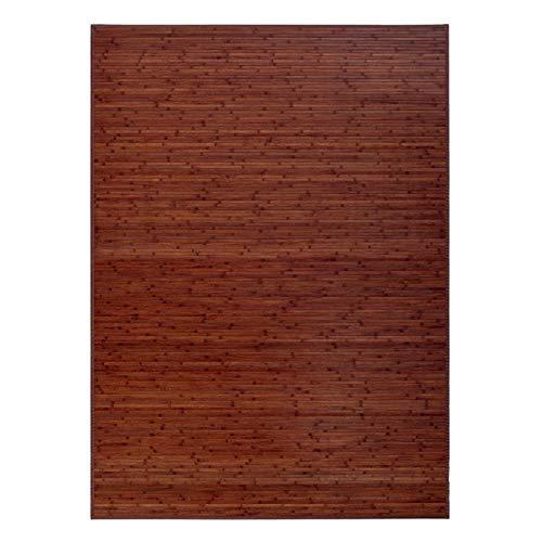Alfombra de Salón o Comedor, Marrón, de Bambú Natural 200 X 300...