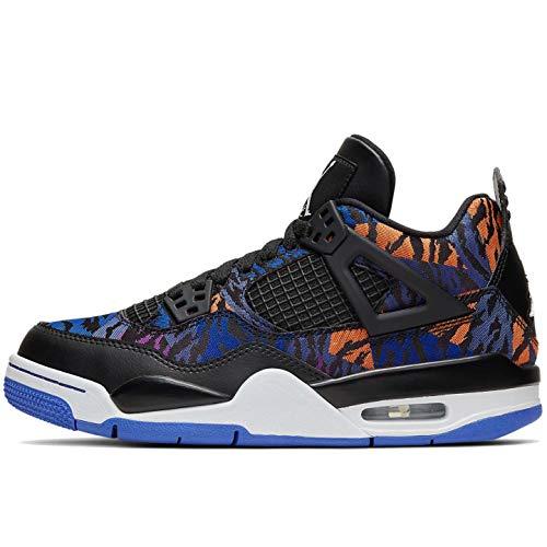 Nike Air Jordan 4 Retro Se (Gs) - black/white-rush violet-racer blue, Größe:6Y