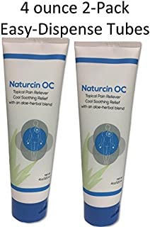 Naturcin-OC Pain Relieving Cream for Sore Muscles, Backaches, Joint Pain, and Arthritis Pain (Menthol, 4 Oz - 2-Pack)