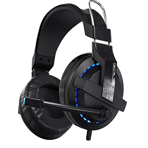 LEZDPP Universale Wired Bluetooth Gaming Headset Professionale Gioco Esports con Frumento Voice Headset (Color : Black)