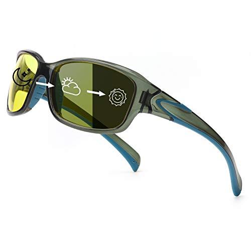 TosGad Photochrom Polarisiert Nachtsichtbrille Herren Nachtbrille zum Autofahren, HD Nachtfahrbrille Blendung Reduzieren und Verbessern der Sicht bei Regen und Nebel