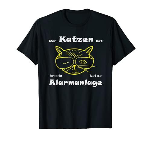 面白い猫 格言アラームシステム Tシャツ