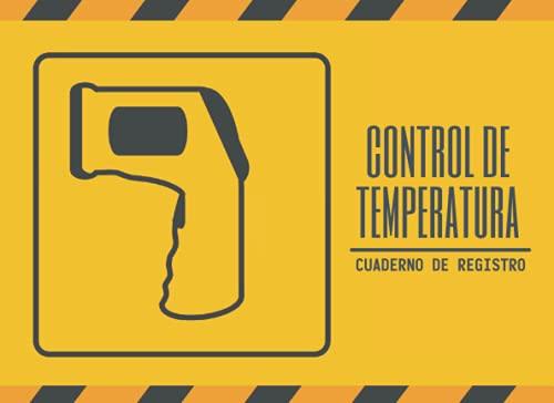 CONTROL DE TEMPERATURA. CUADERNO DE REGISTRO: Lleve un seguimiento de las mediciones de temperatura de su personal o empleados | Acceso seguro a su empresa o negocio | Hasta 1000 registros. ⭐