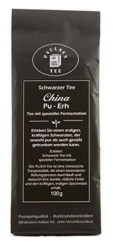 Paulsen Tee Schwarzer Tee China Pu-ERH 100g (37,50 Euro / kg)