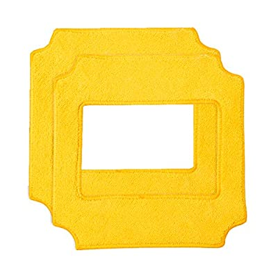 Replacement Pads for Wexbi W 189 Window Cleaner Robot (Yellow, Set of 2 Pieces)