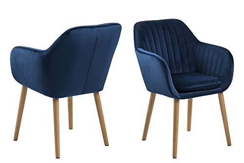 AC Design Furniture Stuhl Wendy, B: 57 x T:61 x H: 83 cm, Metall, Blau