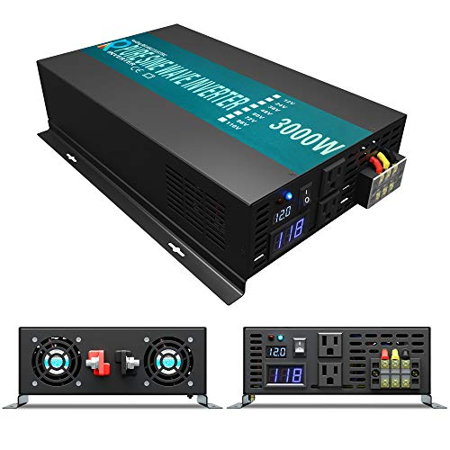 WZRELB RBP300012 3000W 12V 110~120V Pure Sine Wave Solar Power Inverter DC to AC System