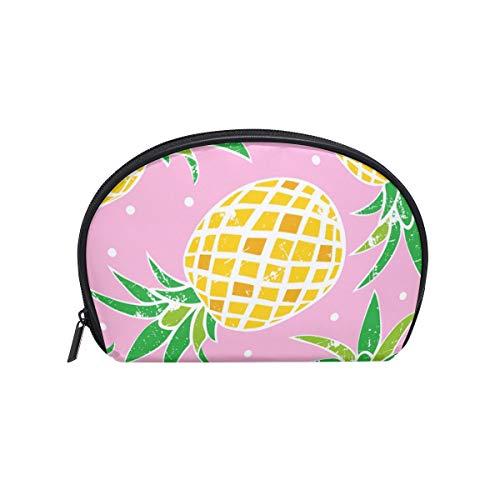 Maquillage sac à cosmétiques points motif d'ananas mignon avec fermeture à glissière