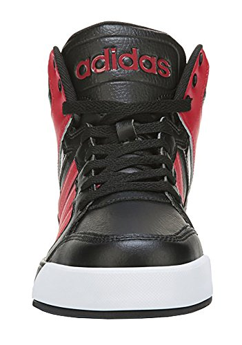 adidas NEO Men's Raleigh Mid Lace-Up Shoe (11.5 D(M) US, Black/Red/Black)