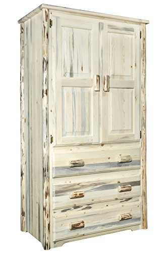 Fantastic Prices! Montana Woodworks Montana Collection Armoire, Clear Lacquer Finish