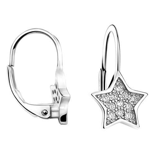 SOFIA MILANI - Damen Ohrringe Ohrhänger als Stern - Aus echtem 925 Sterling Silber - 20697