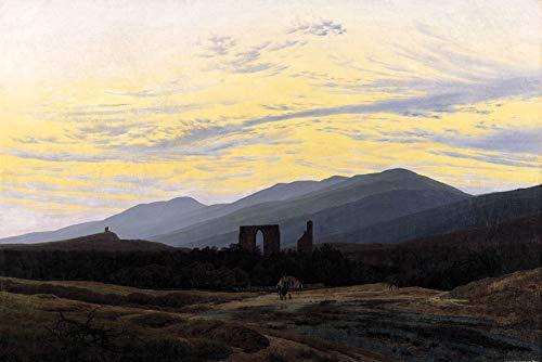 1art1 Caspar David Friedrich - Klosterruine Eldena Im Riesengebirge, 1830-1834 Poster Kunstdruck 180 x 120 cm