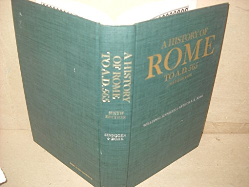 A History of Rome to A.D. 565