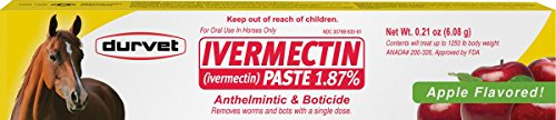 Ivermectin Paste Dewormer - 6.08g dose @ 1.87% Apple Flavor