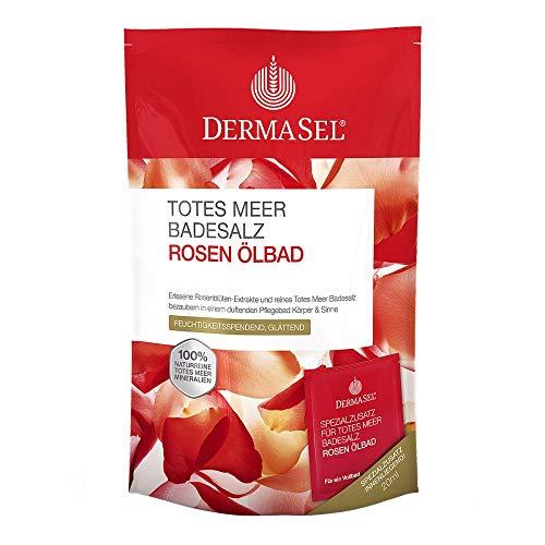 DERMASEL Totes Meer Badesalz+Rose SPA 1 P