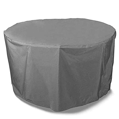 ZGQ Garden Furniture Covers Waterproof 240x100cm, Patio Furniture Cover Round Oxford Cloth Durable Dust-proof Picnic Table Wicker Chair Rattan Cover, Gray, Customizable,Gray