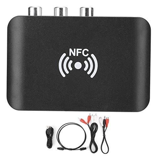 Receptor Bluetooth, adaptador de audio Bluetooth APTX (habilitado para NFC), soporte estéreo analógico L/R para RCA, S/PDIF TOLIN y salida coaxial, para tableta, computadora, teléfono celular,