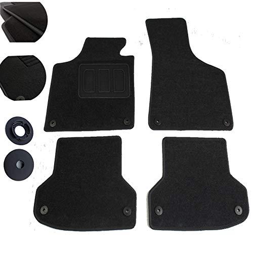 EUGAD 0045QCJD Tapis de Sol Auto spéciaux Tapis pour Voiture 4 pièces, Noir