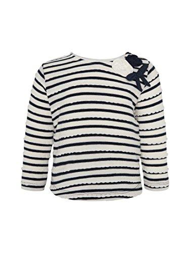 TOM TAILOR 1/1 T-Shirt Manches Longues, Bleu (Agate Stone Blue 6519), 12 Mois Bébé Fille