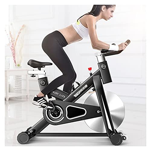 Spinning Bike Bicicleta De Ejercicios con Soporte para Teléfonos Móviles, Bicicleta Estacionaria Interior - Volante Suave Silencioso, Hogar Gimnasio Ejercicio Aeróbico Girando Bicicleta