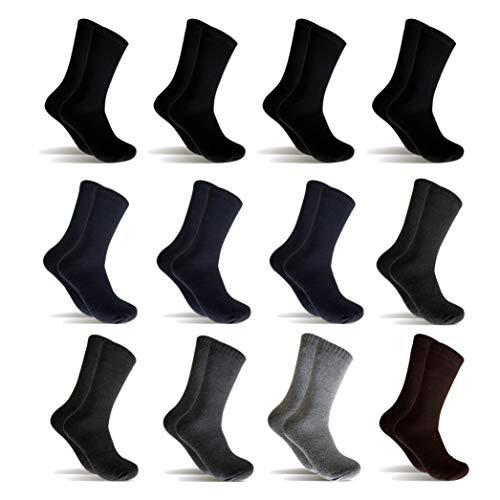 12 Pares Calcetines de invierno Hombre Mujer Calcetines térmicos(Multicolor) (41-46, Multicolor)
