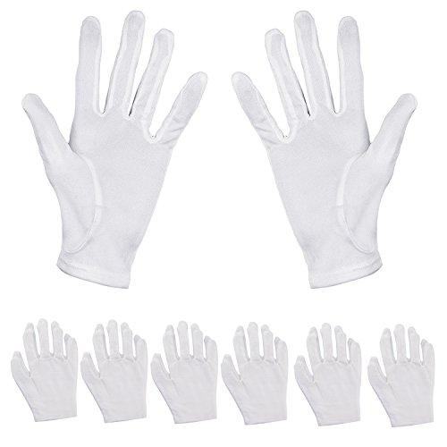 Pack de 6pares de guantes hidratantes Aboat, de algodón blanco, para...