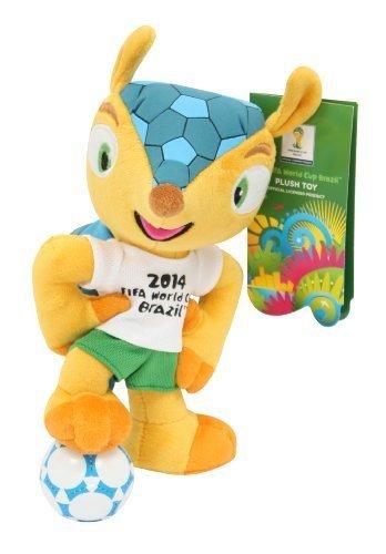 Fuleco Peluche 20 cm in piedi sul pallone - Mascotte Ufficiale - FIFA Mondiali di Calcio Brasile 2014