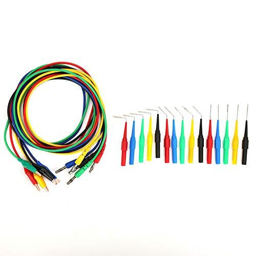 Cable de prueba de enchufe banana profesional de 4 mm de alta calidad para prueba eléctrica con caja de almacenamiento de plástico para multímetro
